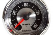 "Auto Meter® - American Muscle™ 2-1/16"" Full Sweep Electric Water Temperature Gauge, 100 - 260 F"