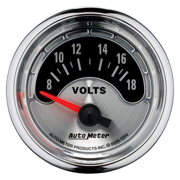 Voltmeters In Dash : Auto meter american muscle™ voltmeter in dash gauge
