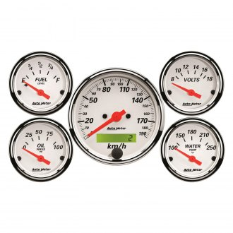 Auto Meter® - Arctic White Series Gauges