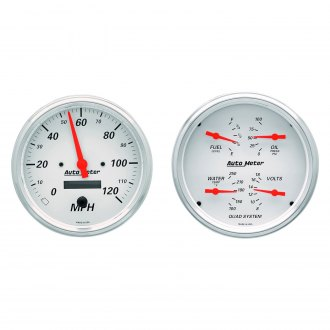 Auto Meter® - Arctic White Series Quad and Speedometer Gauges