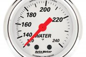 "Auto Meter® - Arctic White™ 2-1/16"" Full Sweep Mechanical Water Temperature Gauge, 110 - 240 F"