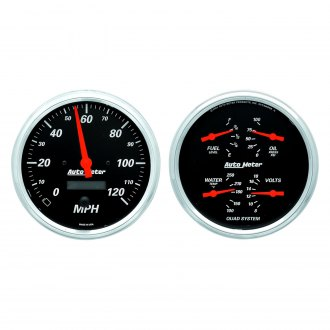 Auto Meter® - Designer Black Series Quad and Speedometer Gauges
