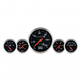 Auto Meter® - Designer Black™ 5-Piece In-Dash Gauge Kit