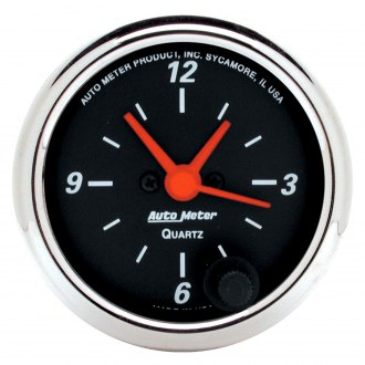 Auto Meter® - Designer Black™ Clock In-Dash Gauge