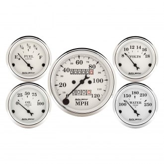 Auto Meter® - Old Tyme White Series Gauges