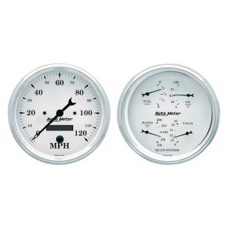 Auto Meter® - Old Tyme White Series Quad and Speedometer Gauges