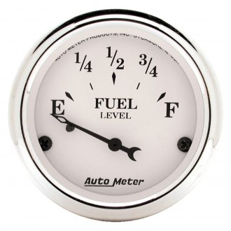 Auto Meter® - Old Tyme White™ Fuel Level In-Dash Gauge