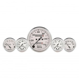 Auto Meter® - Old Tyme White™ In-Dash Gauge Kit
