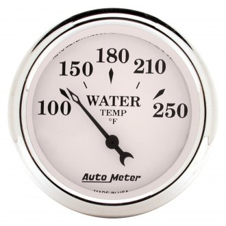 Auto Meter® - Old Tyme White Water Temperature In-Dash Gauge