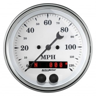 Auto Meter® - Old Tyme White Speedometer In-Dash Gauge