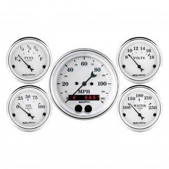 Auto Meter® - Old Tyme White In-Dash Gauge Kit