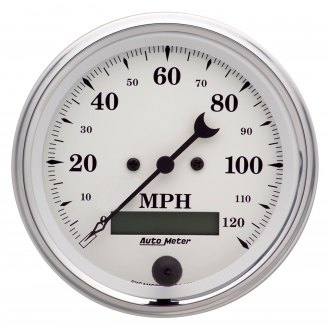 Auto Meter® - Old Tyme White™ Speedometer In-Dash Gauge