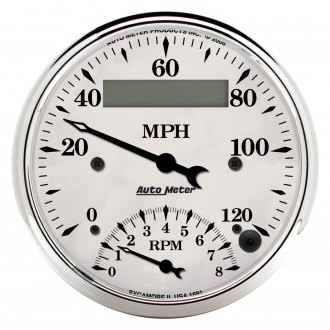 Auto Meter® - Old Tyme White™ Speedometer/Tachometer In-Dash Gauge