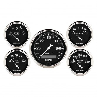Auto Meter® - Old Tyme Black Series Gauges