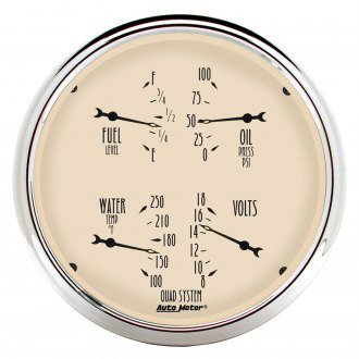 Auto Meter® - Antique Beige Series Quad Gauges