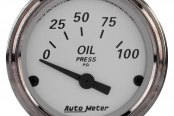 "Auto Meter® - American Platinum™ 2-1/16"" Short Sweep Electric Oil Pressure Gauge, 0 - 100 psi"