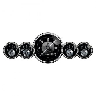 Auto Meter® - Prestige Black Diamond™ 5-Piece In-Dash Gauge Kit