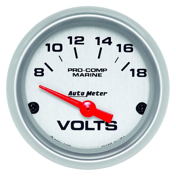 Voltmeters In Dash : Auto meter  marine quot silver in dash