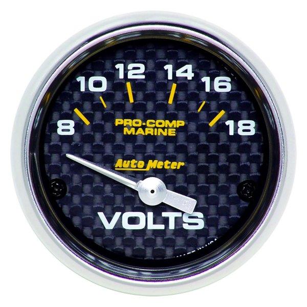Voltmeters In Dash : Auto meter  marine carbon fiber™ voltmeter in