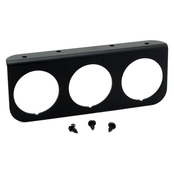 "Auto Meter® - 2-1/16"" Black Aluminum Gauge Panel, 3-Hole"