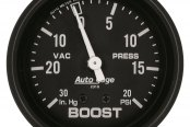"Auto Meter® - Autogage™ 2-5/8"" Mechanical Boost / Vacuum Gauge, 30"" Hg / 20 psi"