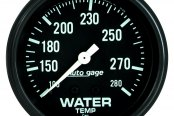 "Auto Meter® - Autogage™ 2-5/8"" Full Sweep Mechanical Water Temperature Gauge, 100 - 280 F"
