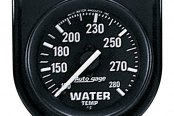 "Auto Meter® - Autogage™ 2-1/16"" Full Sweep Mechanical Water Temperature Gauge, 100 - 280 F"