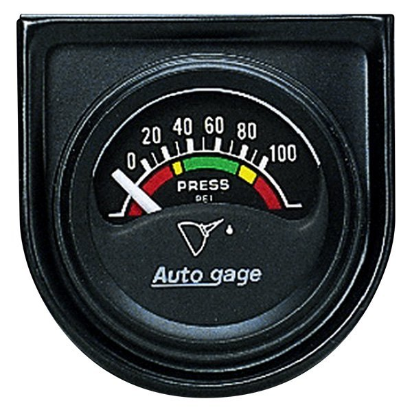 "Auto Meter® - Autogage™ 1-1/2"" Short Sweep Electric Oil Pressure Gauge, 0 - 100 psi"