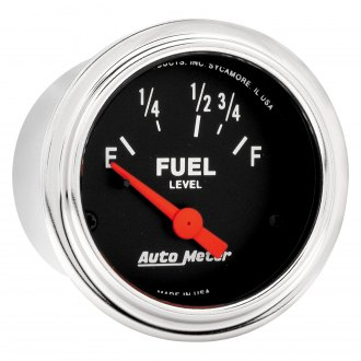 Auto Meter® - Traditional Chrome™ Fuel Level In-Dash Gauge