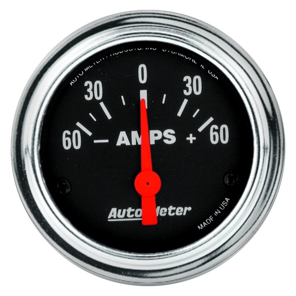Auto Meter Ammeter : Auto meter traditional chrome™ ammeter in dash gauge