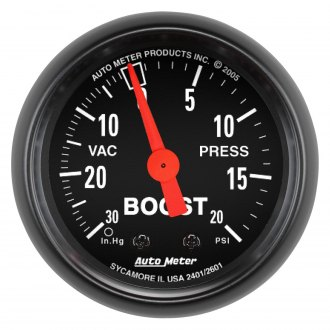 Auto Meter® - Z-Series™ 2-1/16 Mechanical Boost / Vacuum Gauge , 30 Hg / 20 psi