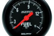 "Auto Meter® - Z-Series™ 2-1/16"" Mechanical Fuel Pressure Gauge, 0 - 15 psi"