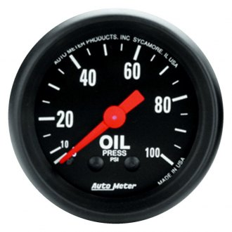 Auto Meter® - Z-Series™ 2-1/16 Mechanical Oil Pressure Gauge , 0 - 100 psi