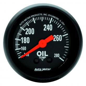 Auto Meter® - Z-Series™ 2-1/16 Mechanical Oil Temperature Gauge , 140 - 280 F