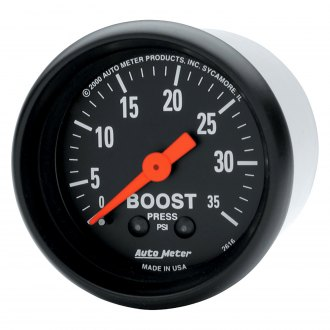 Auto Meter® - Z-Series™ 2-1/16 Mechanical Boost Gauge , 0 - 35 psi