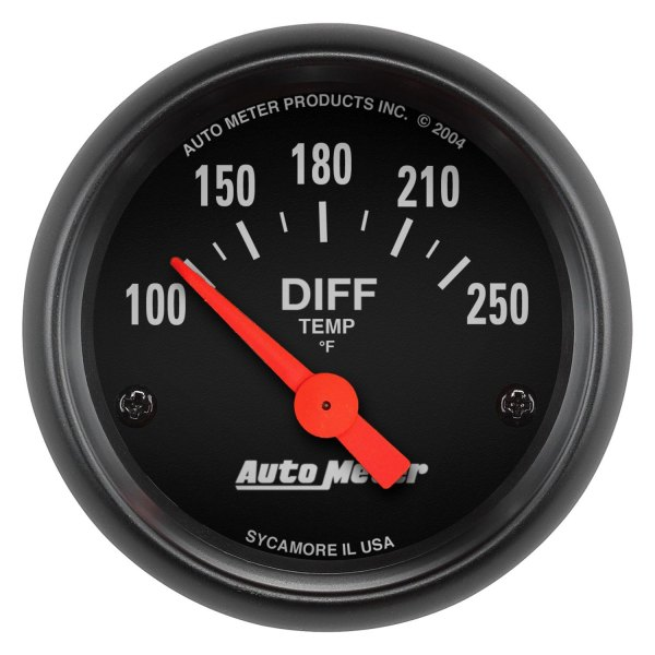 "Auto Meter® - Z-Series™ 2-1/16"" Electric Differential Temperature Gauge, 100 - 250 F"