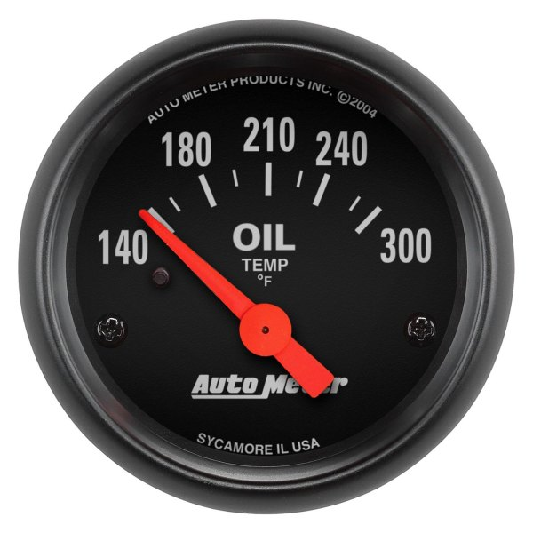 "Auto Meter® - Z-Series™ 2-1/16"" Electric Oil Temperature Gauge, 140 - 300 F"
