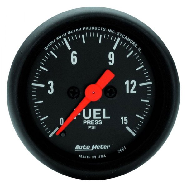 "Auto Meter® - Z-Series™ 2-1/16"" Electric Fuel Pressure Gauge, 0 - 15 psi"