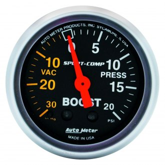Auto Meter® - Sport-Comp™ 2-1/16 Mechanical Boost / Vacuum Gauge , 30 Hg / 20 psi