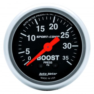 Auto Meter® - Sport-Comp™ 2-1/16 Mechanical Boost Gauge , 0 - 35 psi