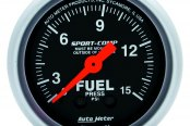 "Auto Meter® - Sport-Comp™ 2-1/16"" Mechanical Fuel Pressure Gauge, 0 - 15 psi"