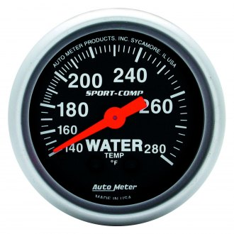 Auto Meter® - Sport-Comp™ 2-1/16 Full Sweep Mechanical Water Temperature Gauge , 140 - 280 F