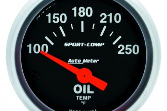 Auto Meter® - Sport-Comp™ Oil Temperature In-Dash Gauge