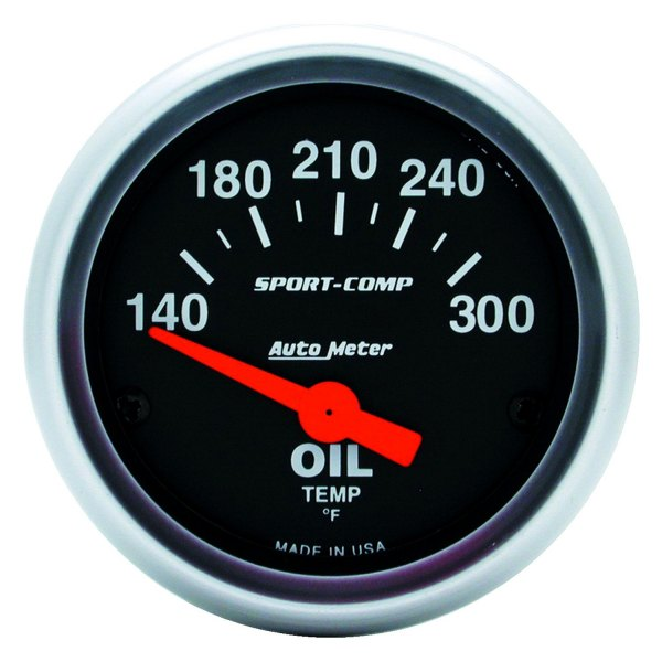 "Auto Meter® - Sport-Comp™ 2-1/16"" Electric Oil Temperature Gauge, 140 - 300 F"