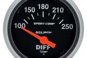 "Auto Meter® - Sport-Comp™ 2-5/8"" Electric Differential Temperature Gauge, 100 - 250 F"