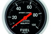 "Auto Meter® - Sport-Comp™ 2-5/8"" Mechanical Fuel Pressure Gauge, 0 - 100 psi"