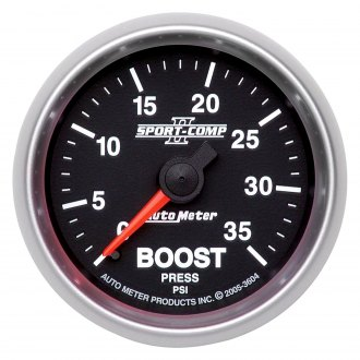 Auto Meter® - Sport-Comp II™ 2-1/16 Mechanical Boost Gauge , 0 - 35 psi
