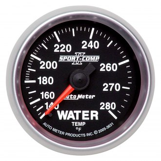 Auto Meter® - Sport-Comp II™ 2-1/16 Full Sweep Mechanical Water Temperature Gauge , 140 - 280 F