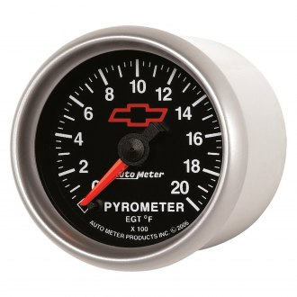 Auto Meter® - GM Black™ Pyrometer In-Dash Gauge