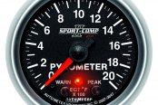 "Auto Meter® - Sport-Comp PC™ 2-1/16"" Electric EGT / Pyrometer Gauge, 0 - 2000 F"